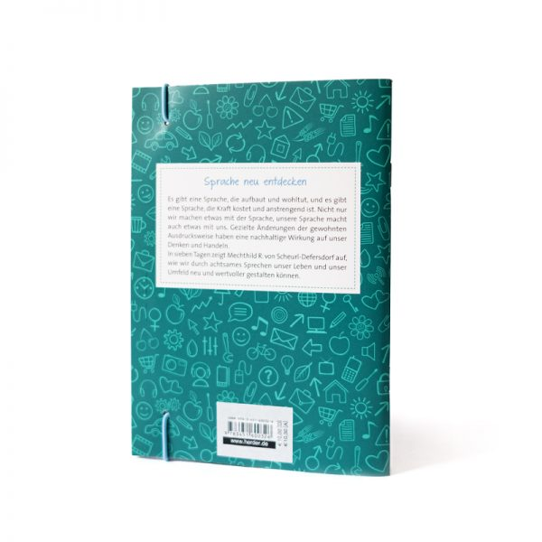 Buch Rückseite Sieben Tage achtsam sprechen Sprache neu entdecken