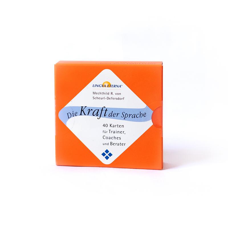 Kartensatz orange Die Kraft der Sprache mit 40 Karten für Trainer, Coaches und Berater