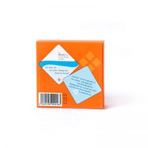 Kartensatz orange Rückseite