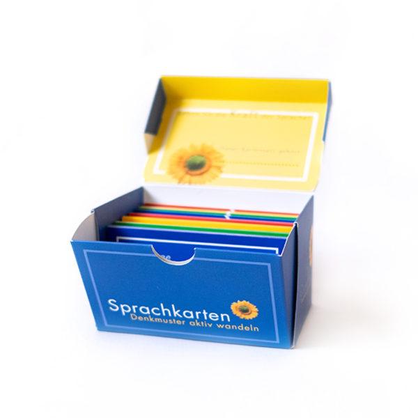 Sprachkarten Denkmuster aktiv wandeln, offene box